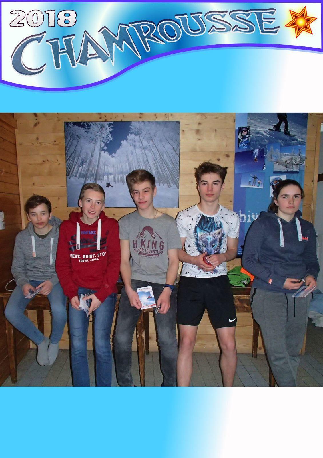 Les niveaux de ski ou snow - Remise des médailles par groupe