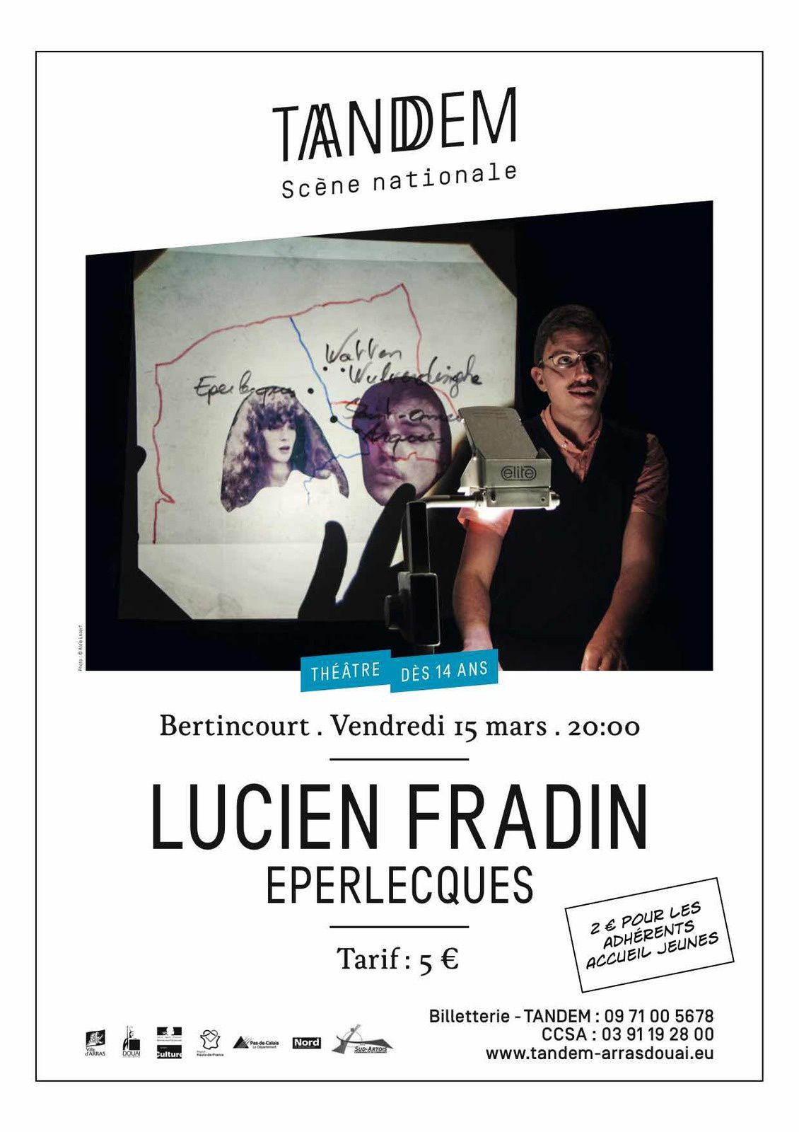 SPECTACLE - EPERLECQUES -  Lucien Fradin -