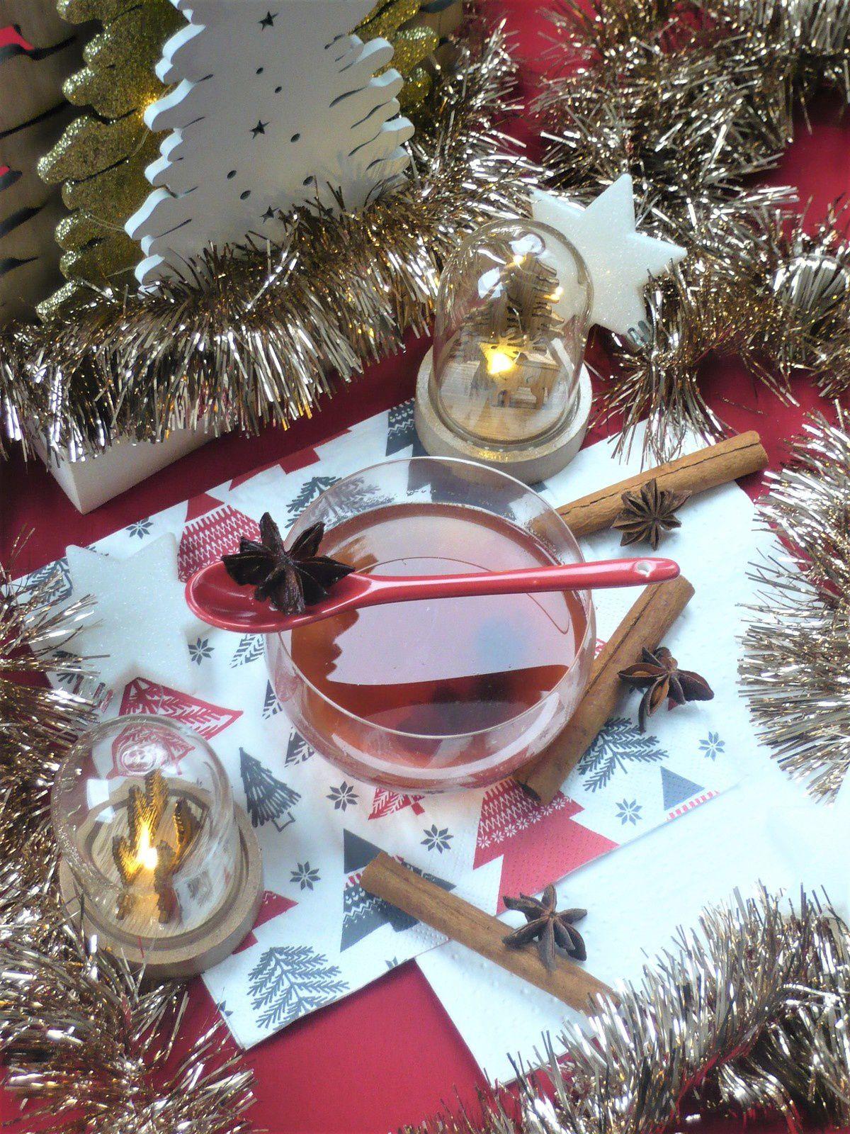 Cidre rosé chaud de Noël