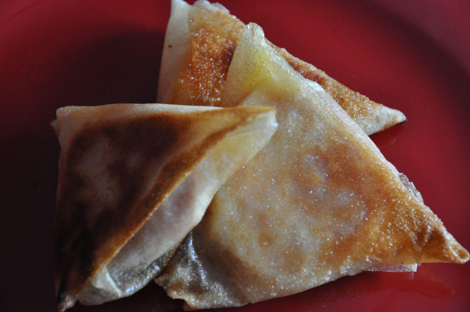 Briques jambon-fromage