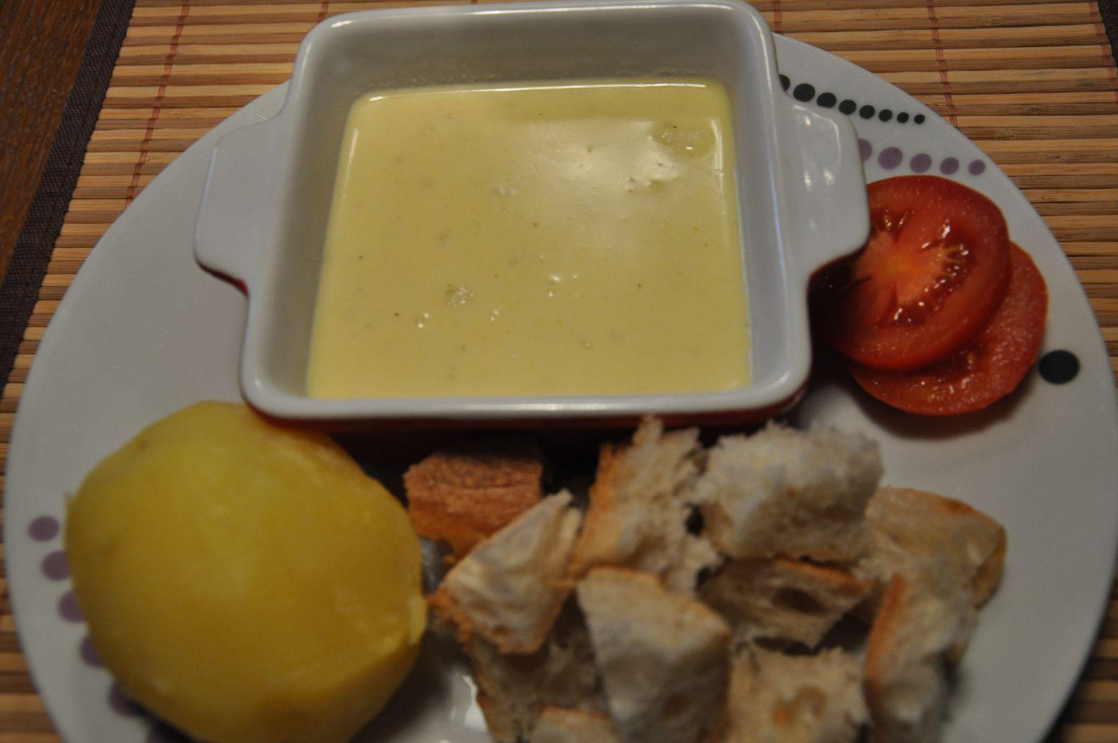 Fondue au fromage sans alcool
