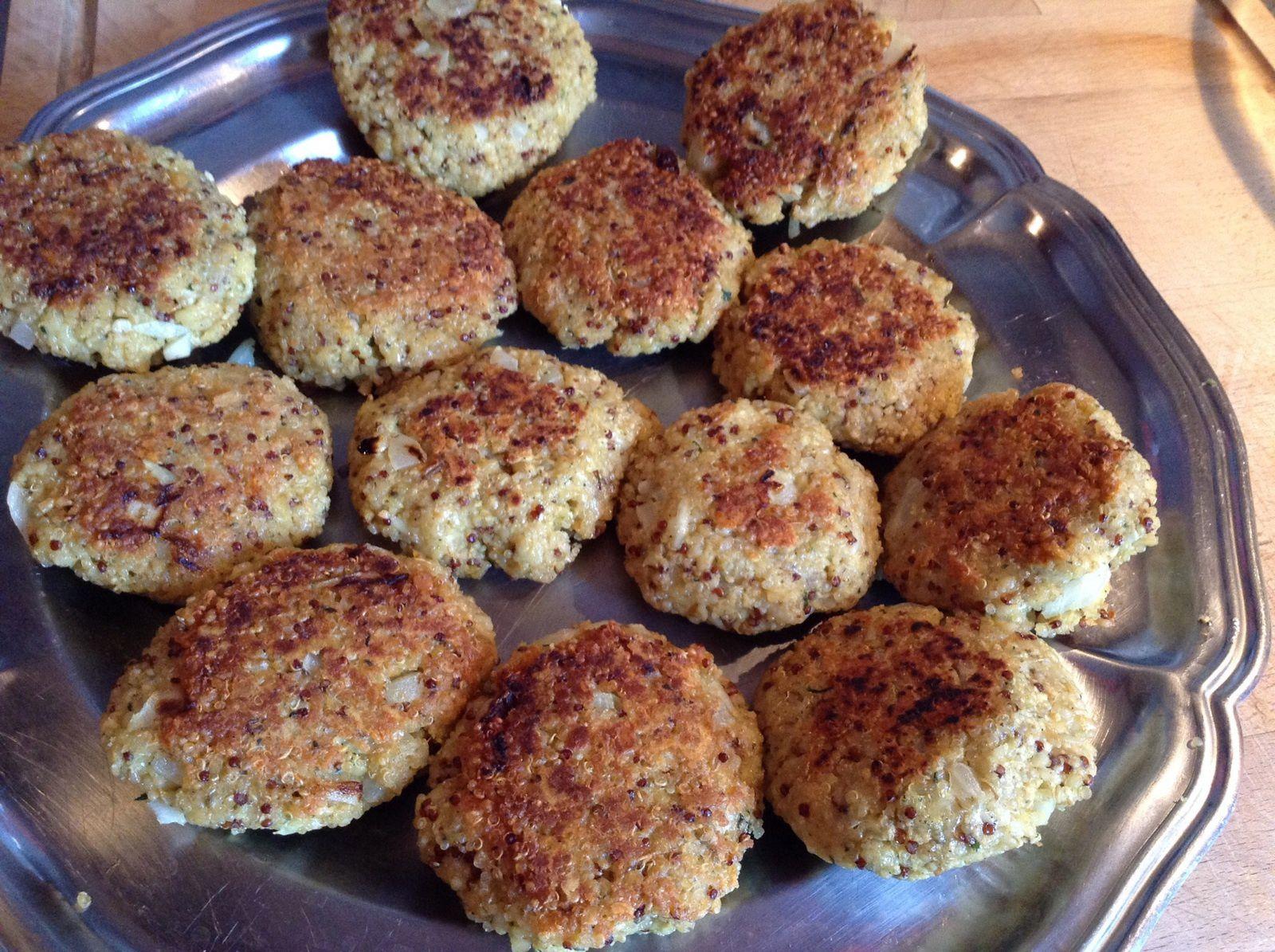 Galettes de quinoa et boulgour