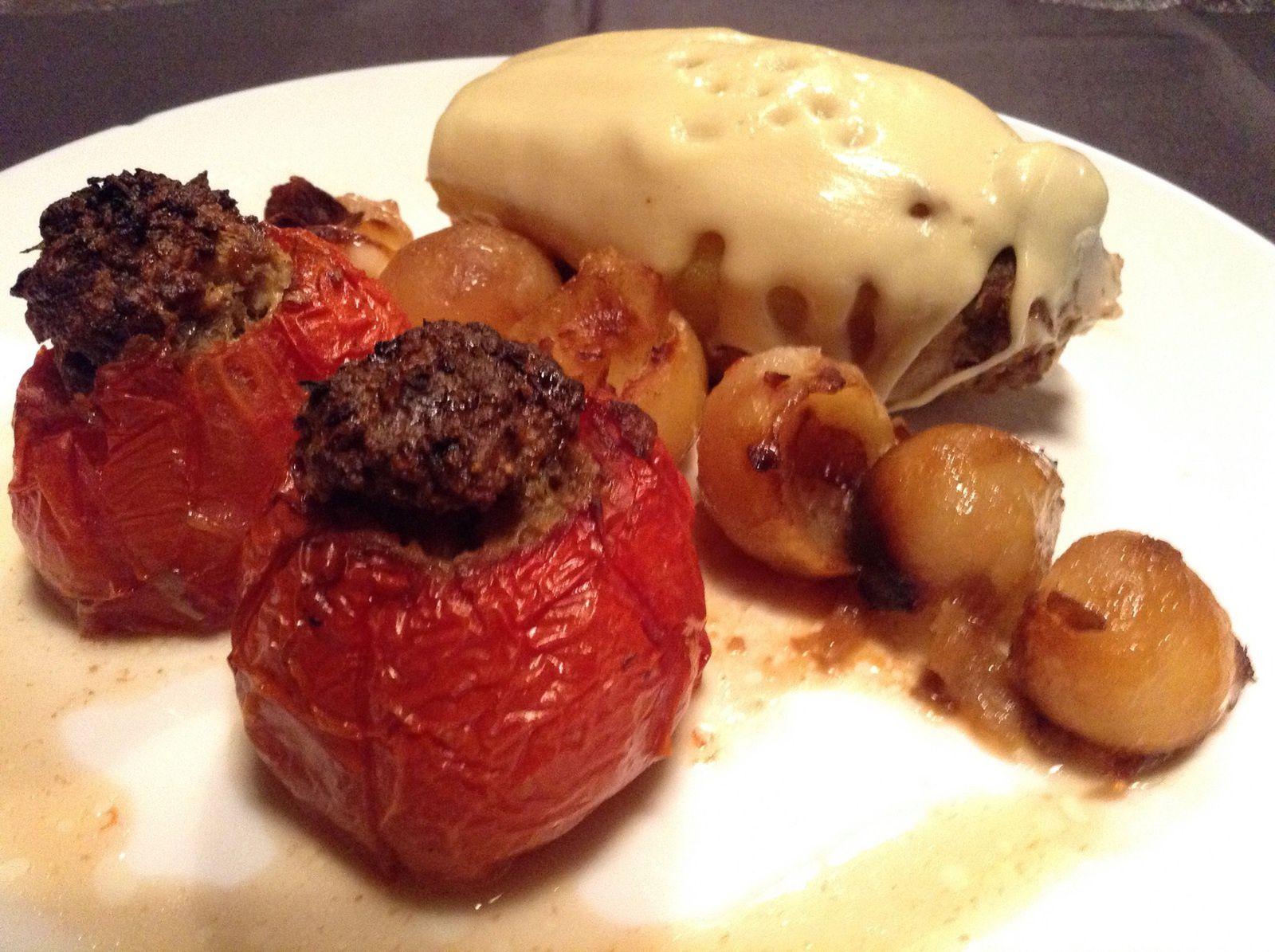 Pommes de terre et tomates farcies recettes déjà sur mon blog