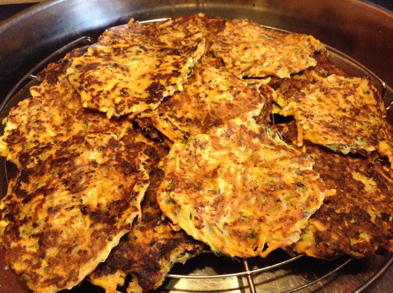 Galettes patate douce et courgette ( végétariens)