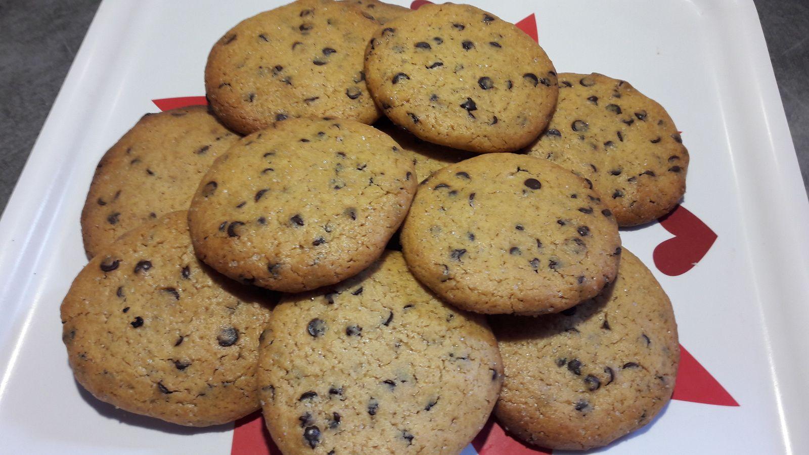 Cookies au caramel au beurre salé maison et pépites de chocolat