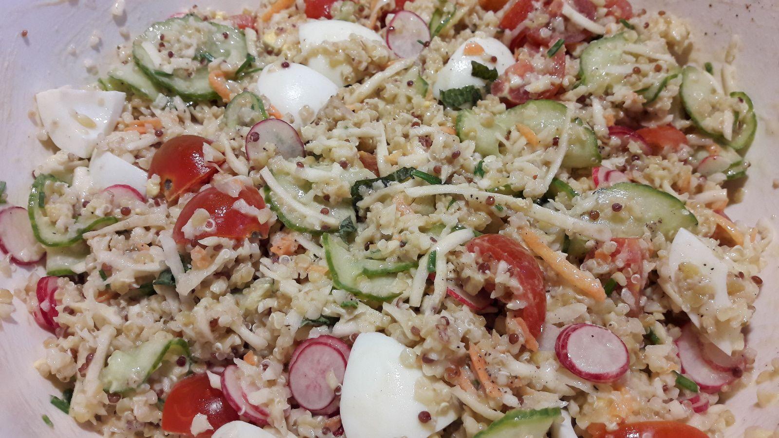 Salade  fraicheur boulgour.quinoa etc