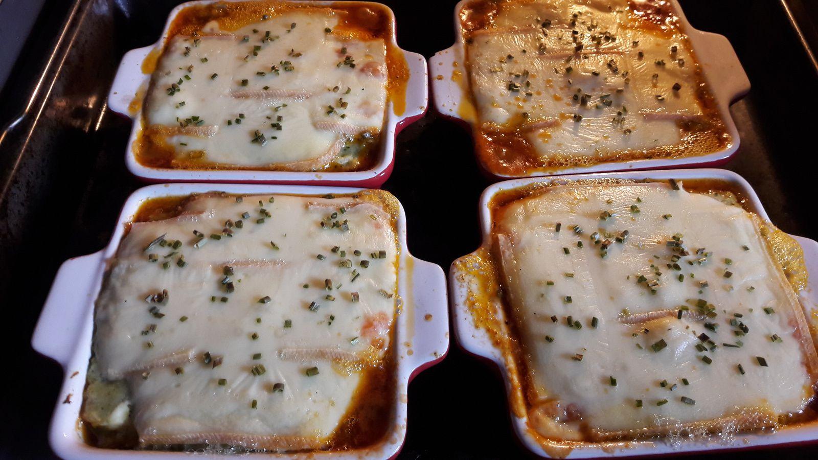 Hachis vert de boeuf haché au fromage à raclette