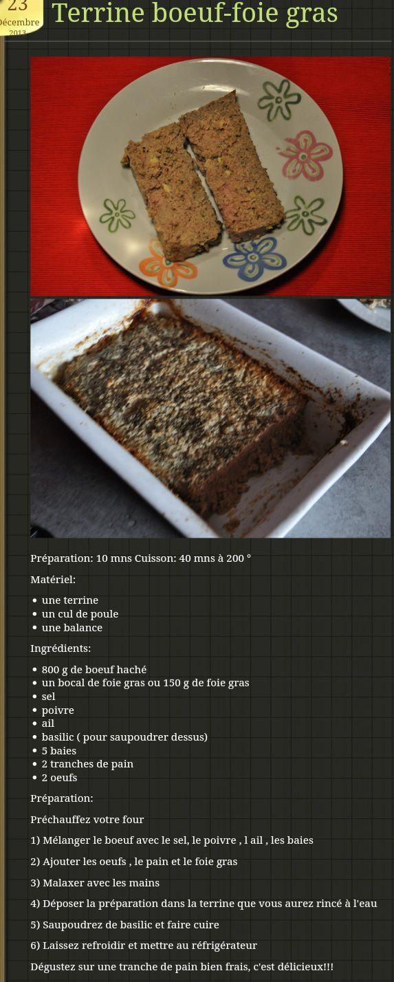 Terrine de boeuf et foie gras