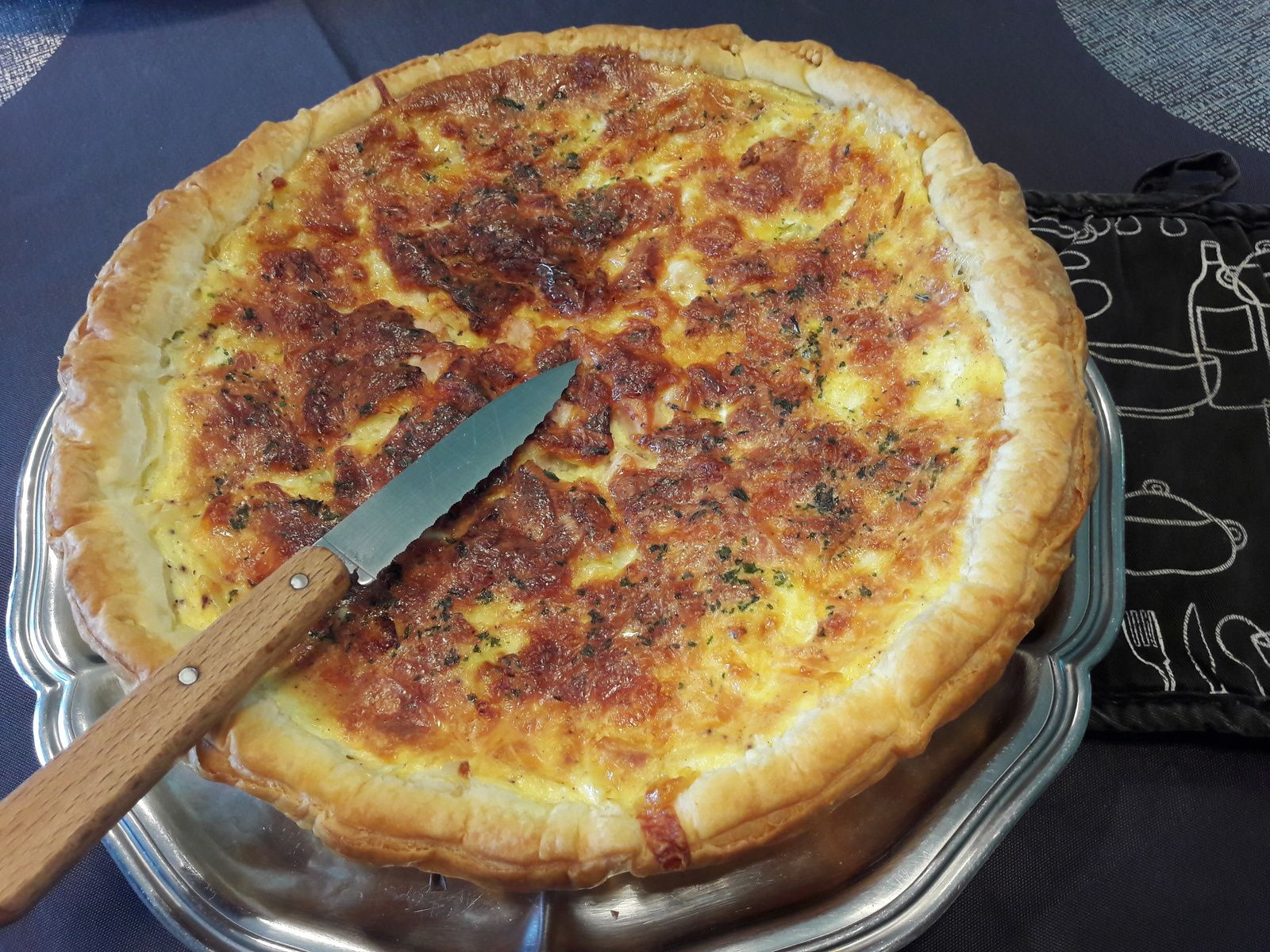 Tarte  poulet 3 fromages