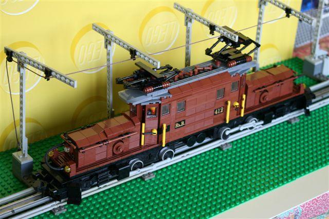Locomotive Suisse crocodile RhB n° 412