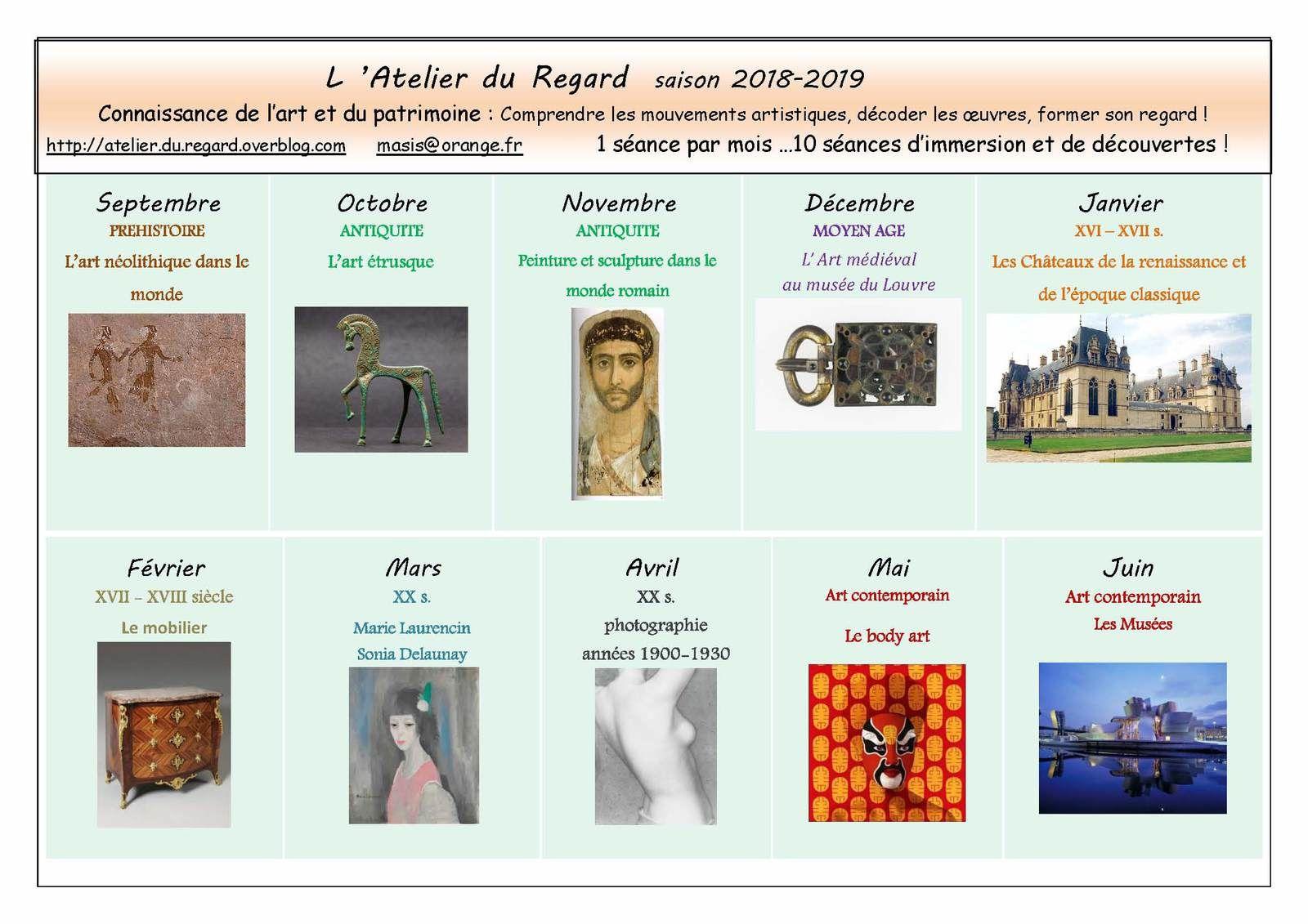 Programme 2018 - 2019