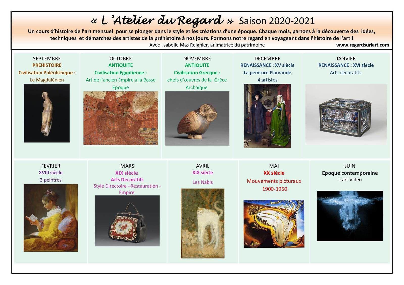 Programme de la saison 2020 2021