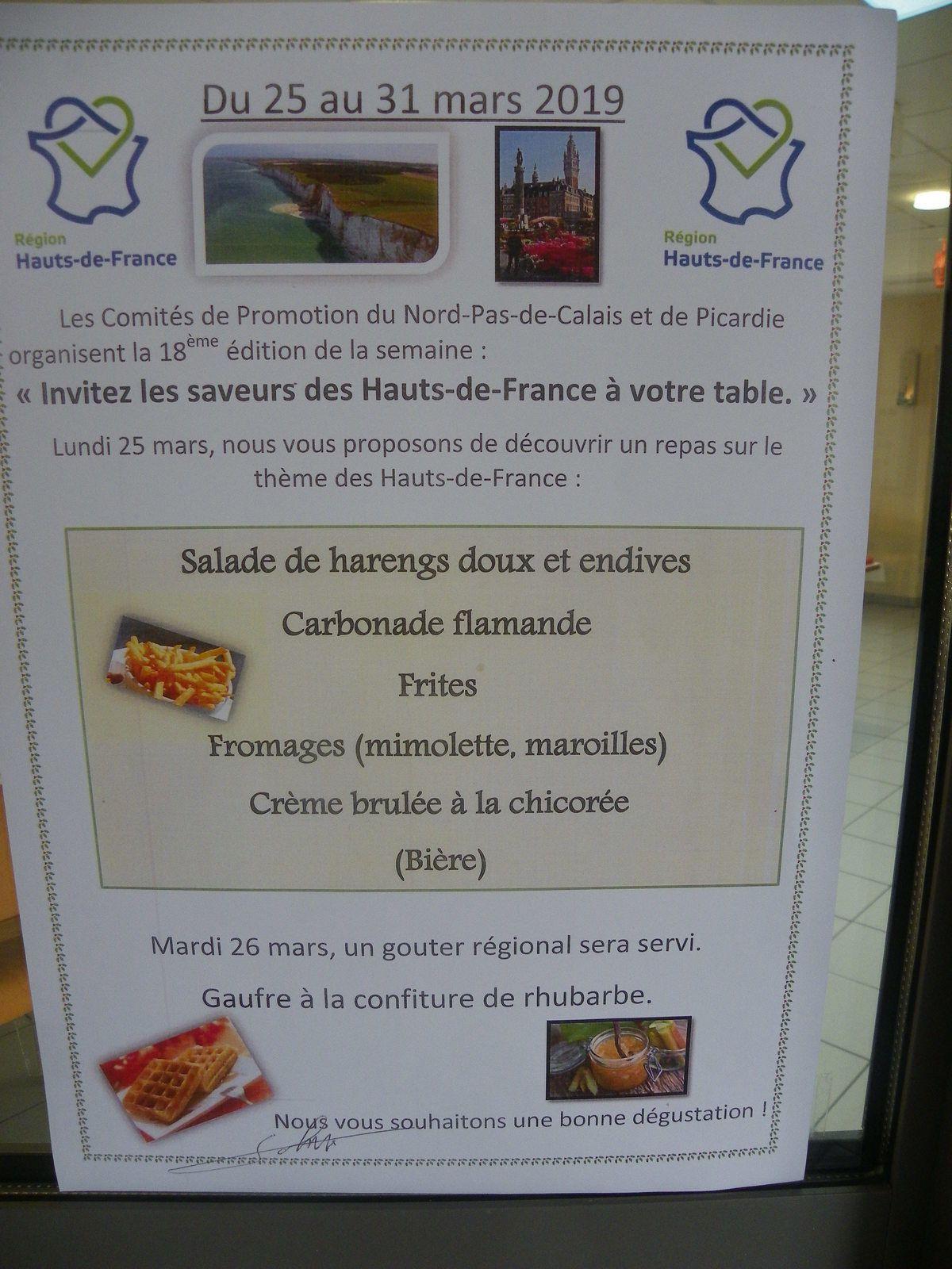 Repas Hauts de France