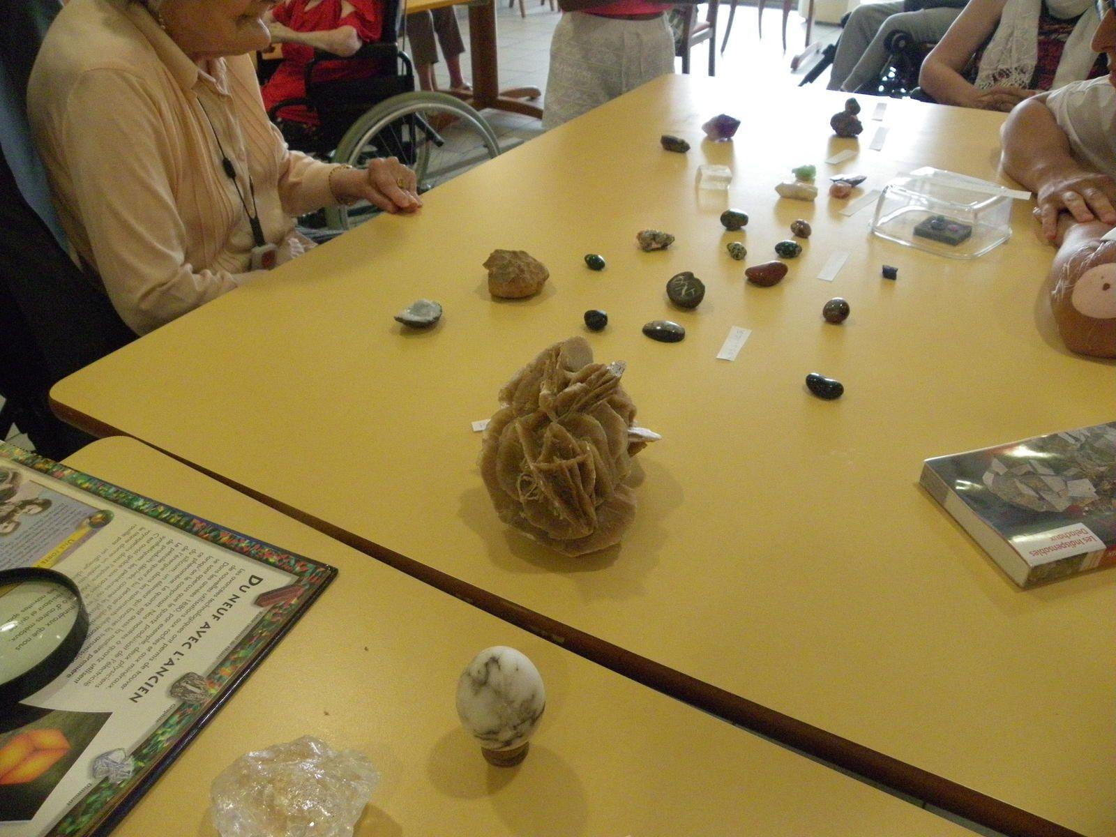 Exposition de pierres