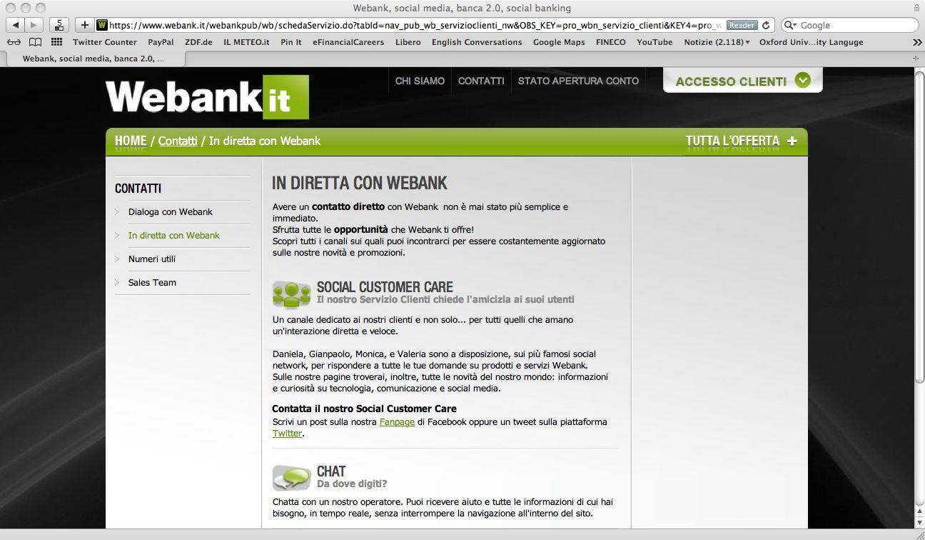Webank Social Customer Care