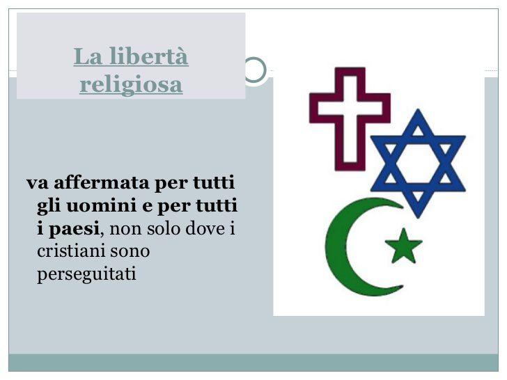 La libertà religiosa per il bene di tutti
