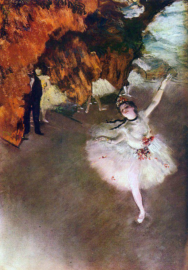 Sage drapé slave du tutu de valse par Degas.
