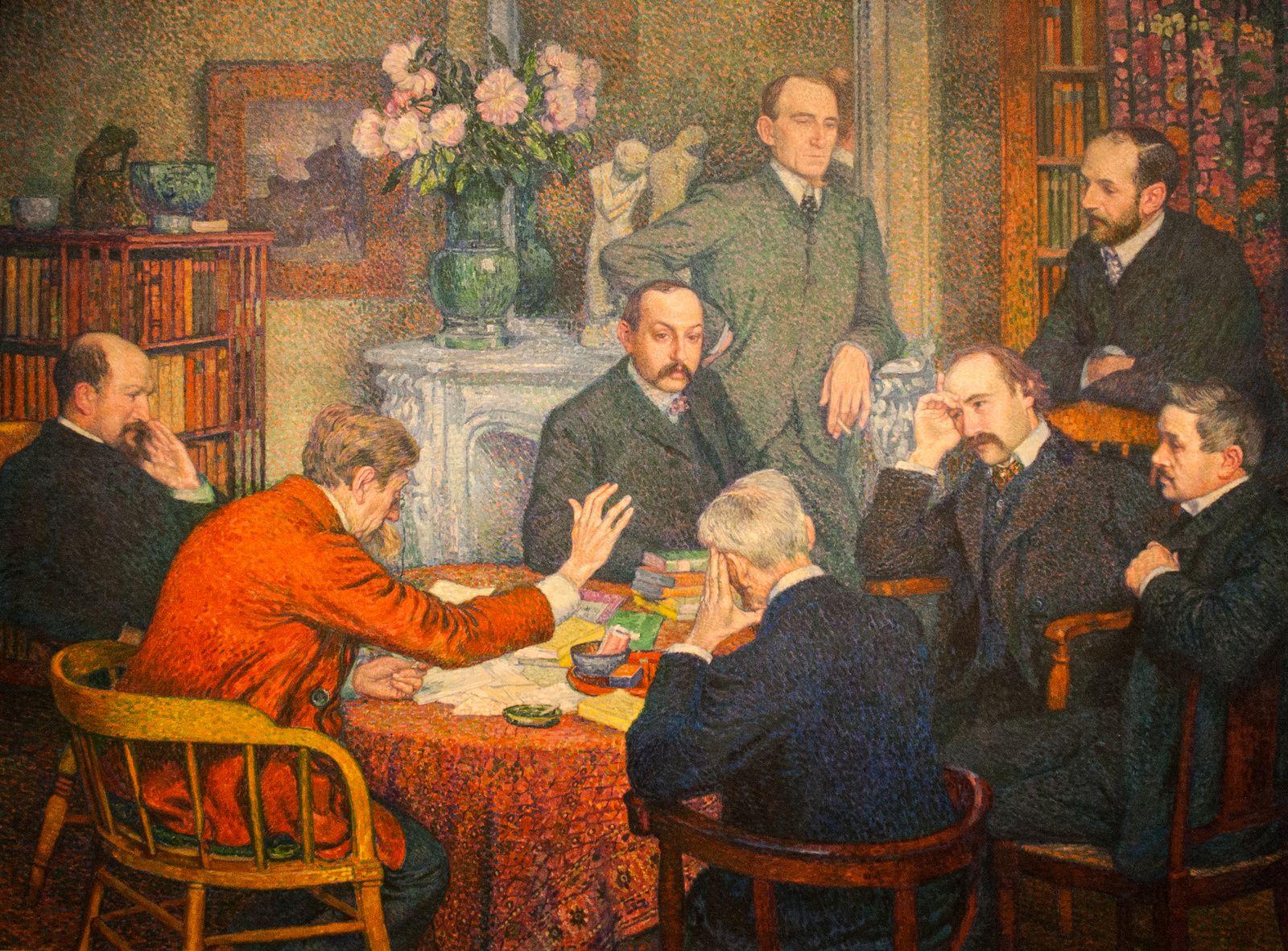 Théo van Rysselberghe, Une lecture, 1903, huile sur toile, musée de Gent.
