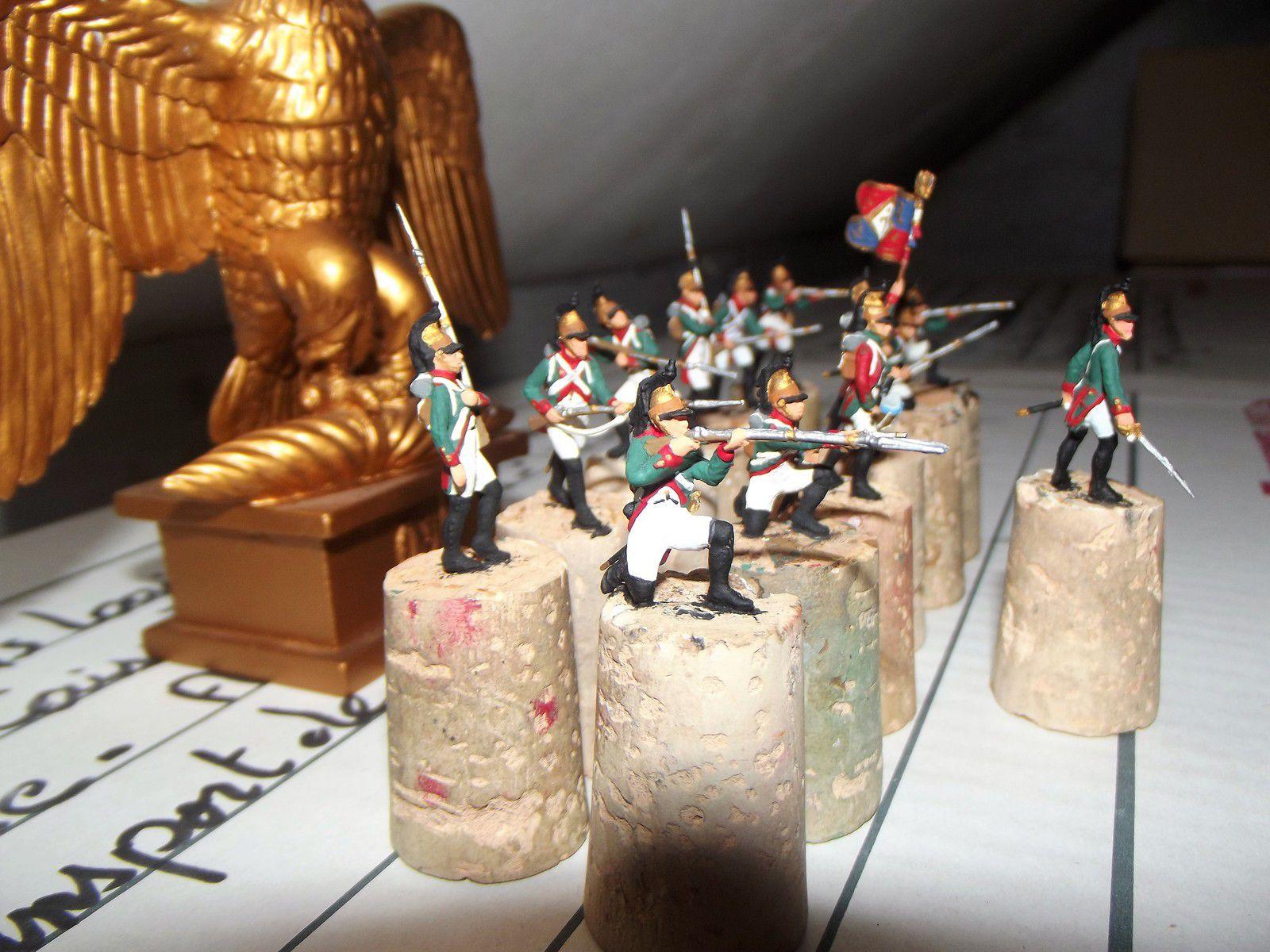 DRAGONS A PIED ................4éme REGIMENT ,LES FIGURINES