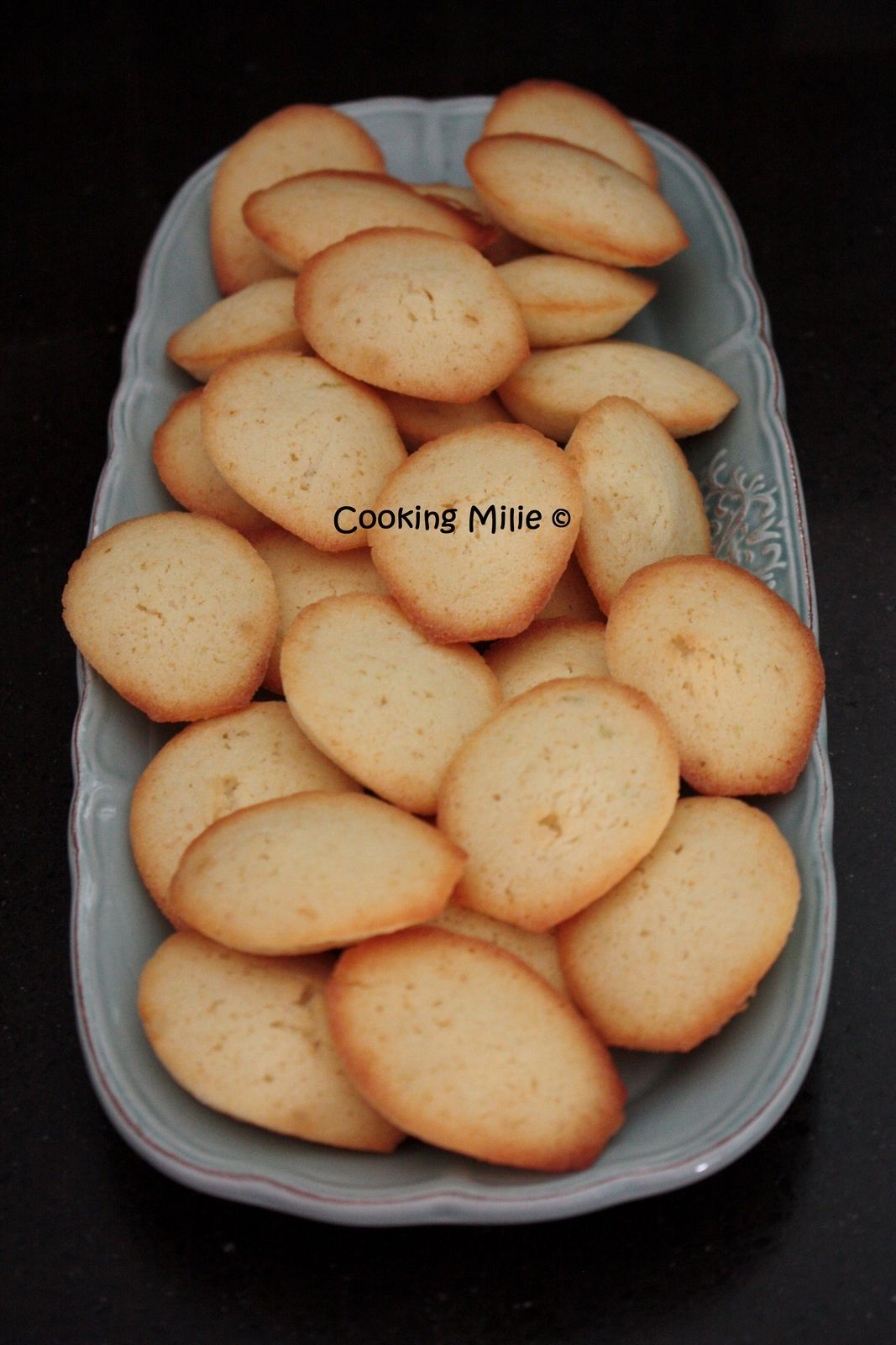 Petites madeleines au citron vert