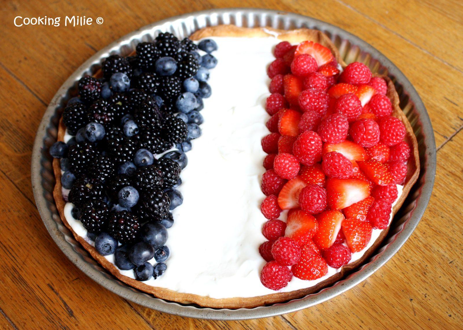 Tarte aux fruits tricolore