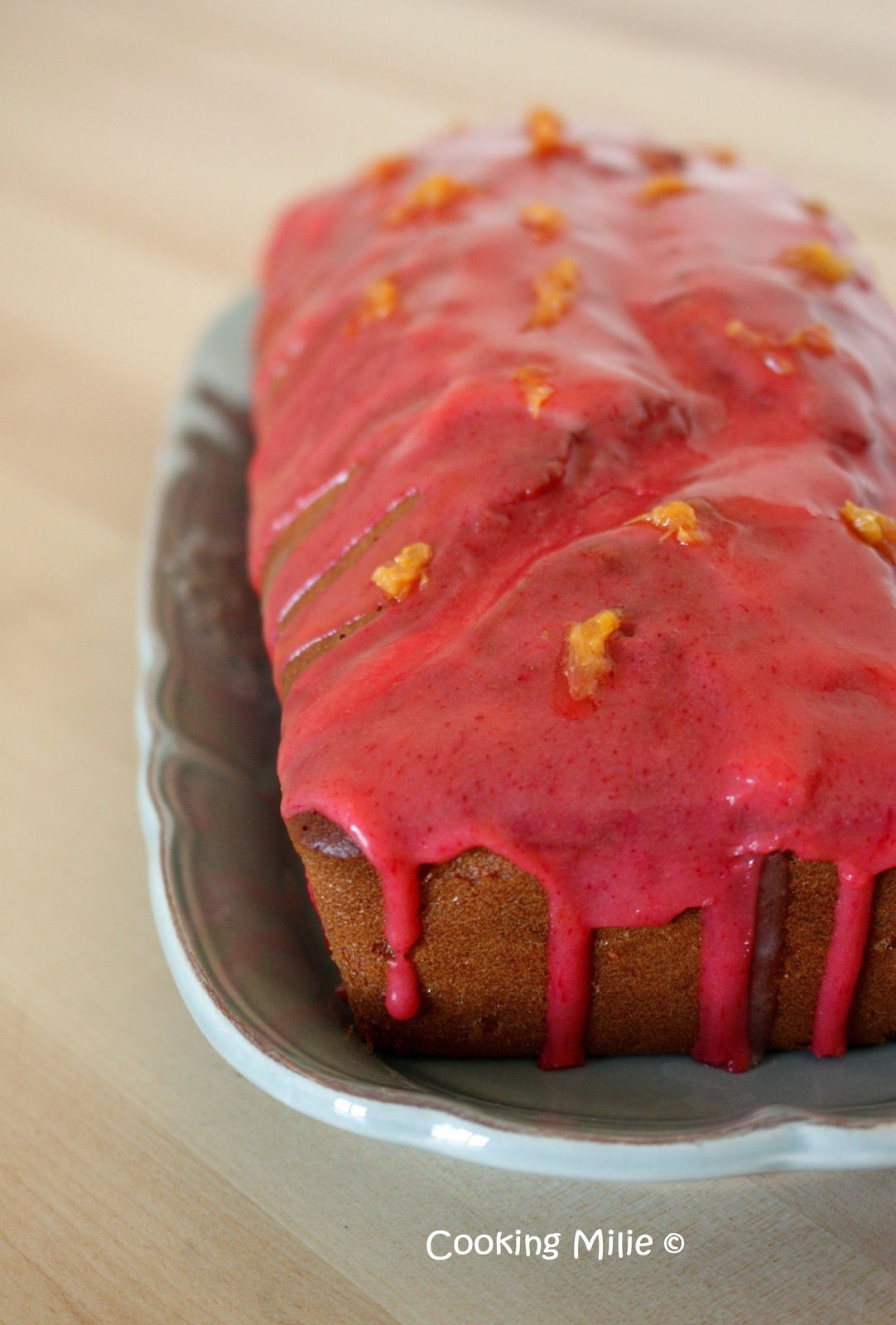 Cake à l'orange sanguine (sans lactose)
