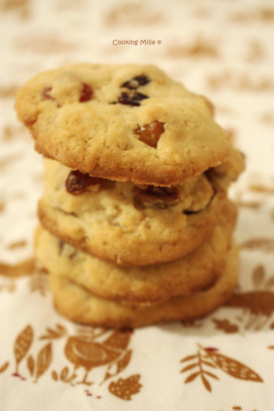 Biscuits moelleux aux fruits confits