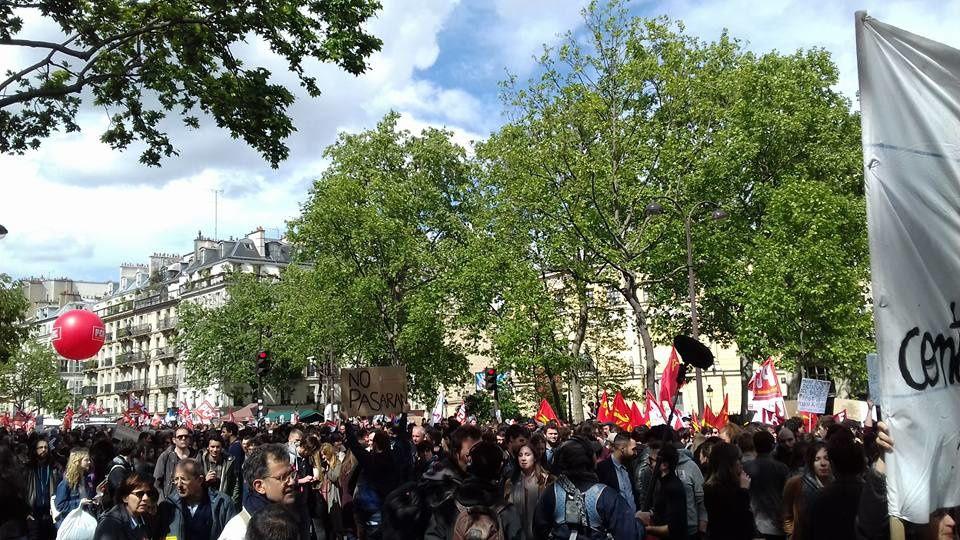 Manifestation à Paris, le 1er mai dernier. (Crédit photo © Amélie Henkous)