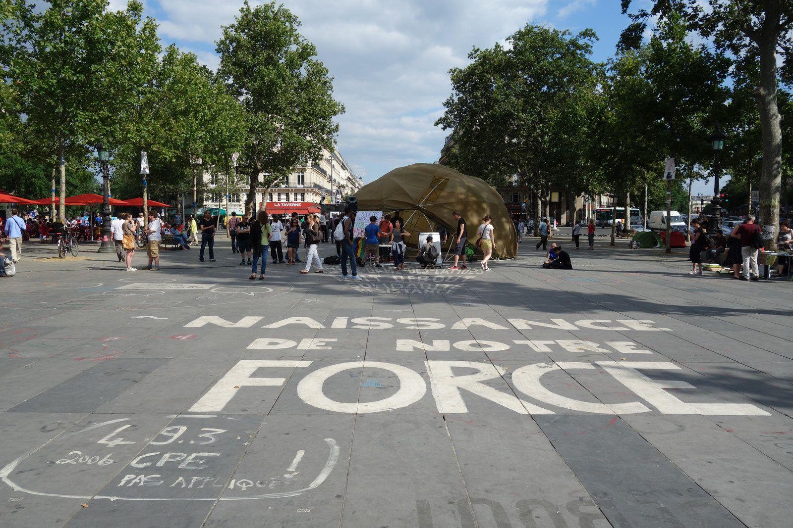 Place de la République à Paris, en juillet 2016.