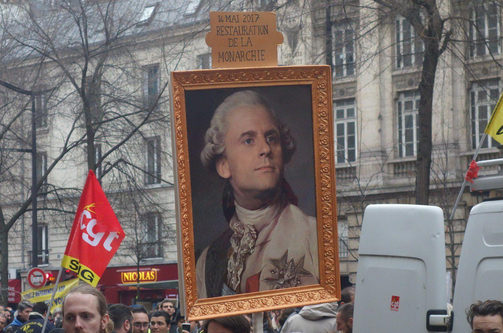 Lors de l'une des manifestations contre la réforme des retraites, le 9 janvier 2020 à Paris.