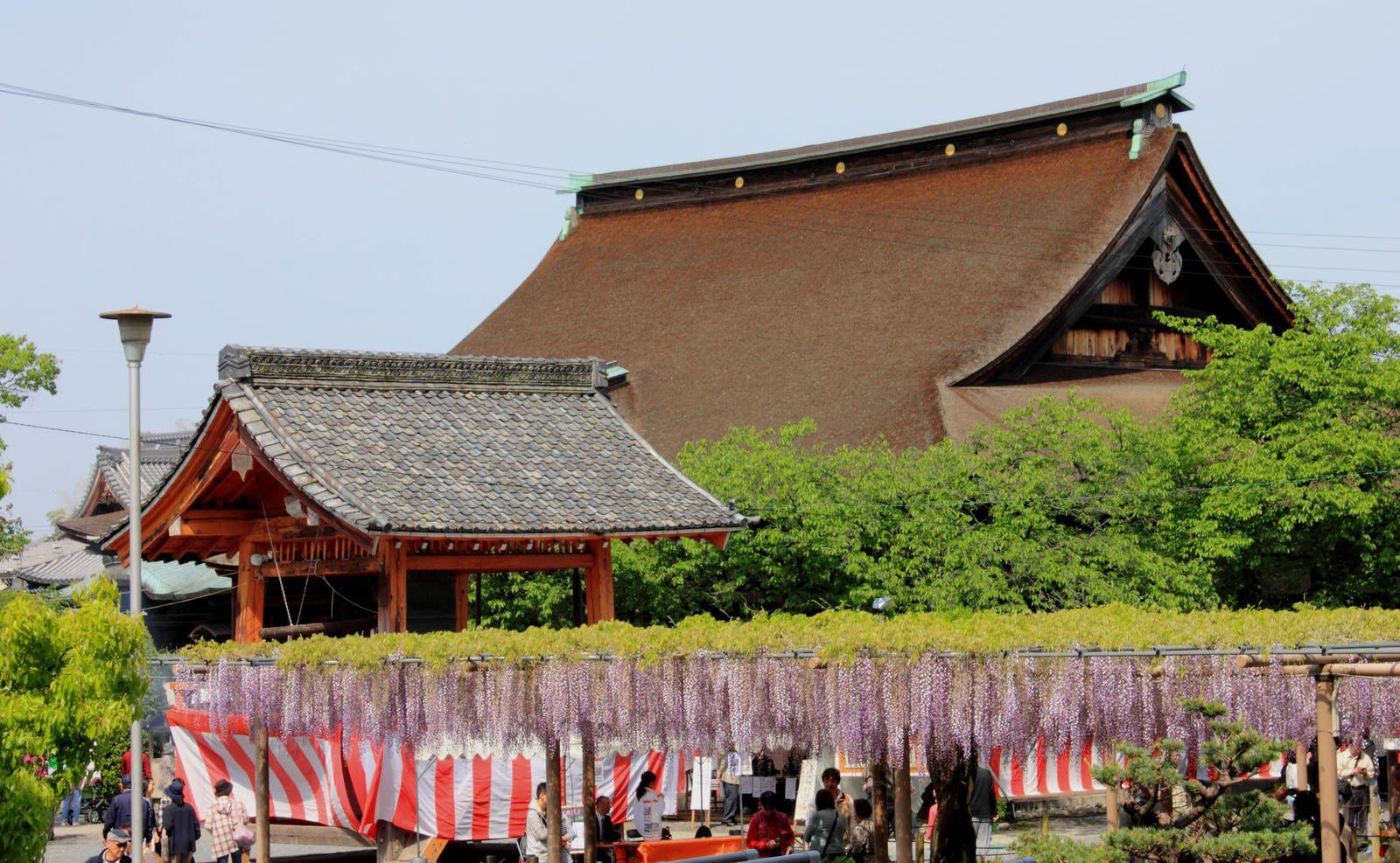 Pergolas devant le temple principal