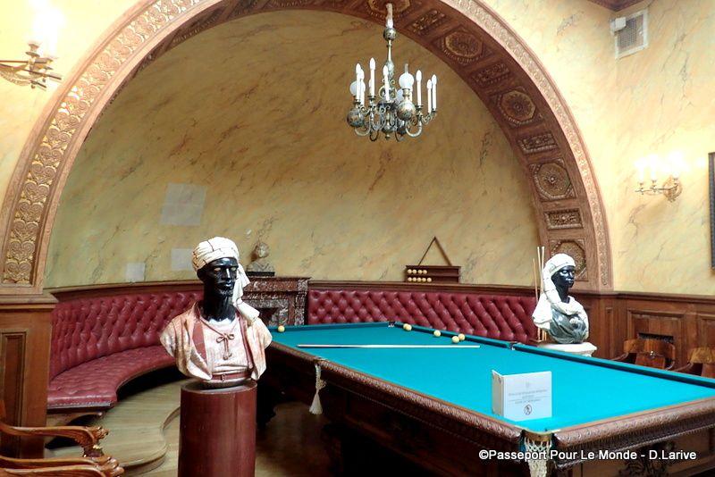 Le théâtre, la salon Turc et le salon Mauresque