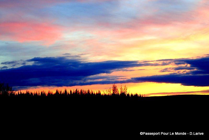 Une explosion de couleurs lors des sublimes couchers de soleil !