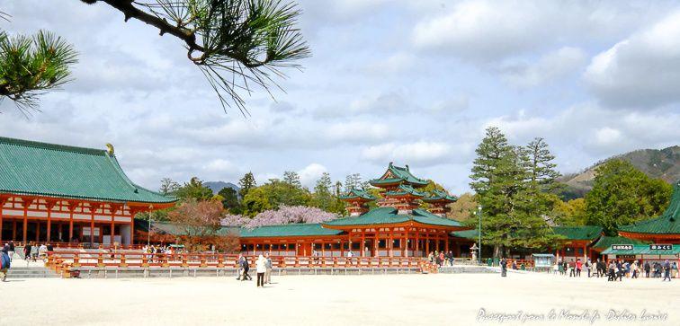 KYOTO HEIAN JINGU SANCTUAIRE TEMPLE JAPON JAPAN NIHONGO TOURISMEJAPAN