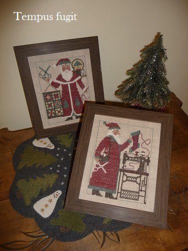 Sewing and quilting Santas