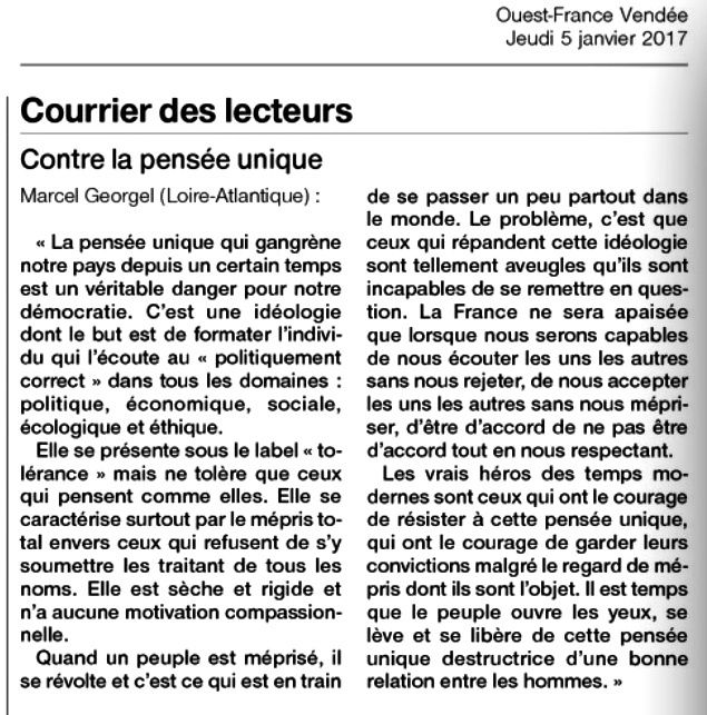 Ouest-France 05/01/2017
