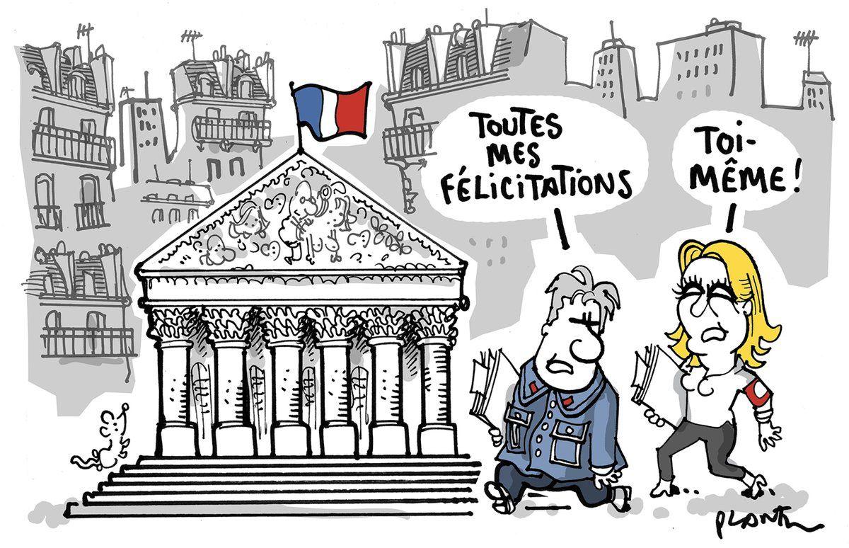 Un nouiveau dessin dans Le Monde daté du 20/06/2017 qui provoque à nouveau l'ire des godillots de Méluche !