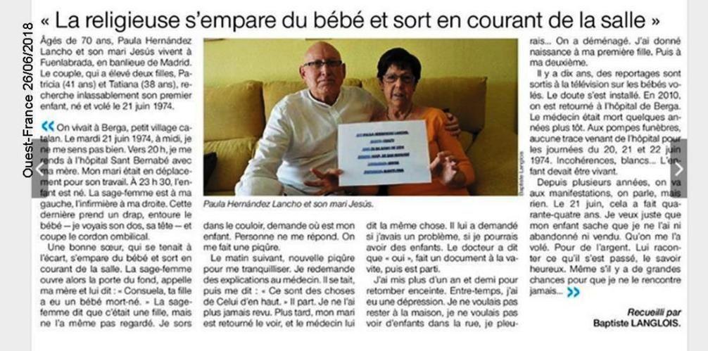 Les enfants volés par l'église franquiste