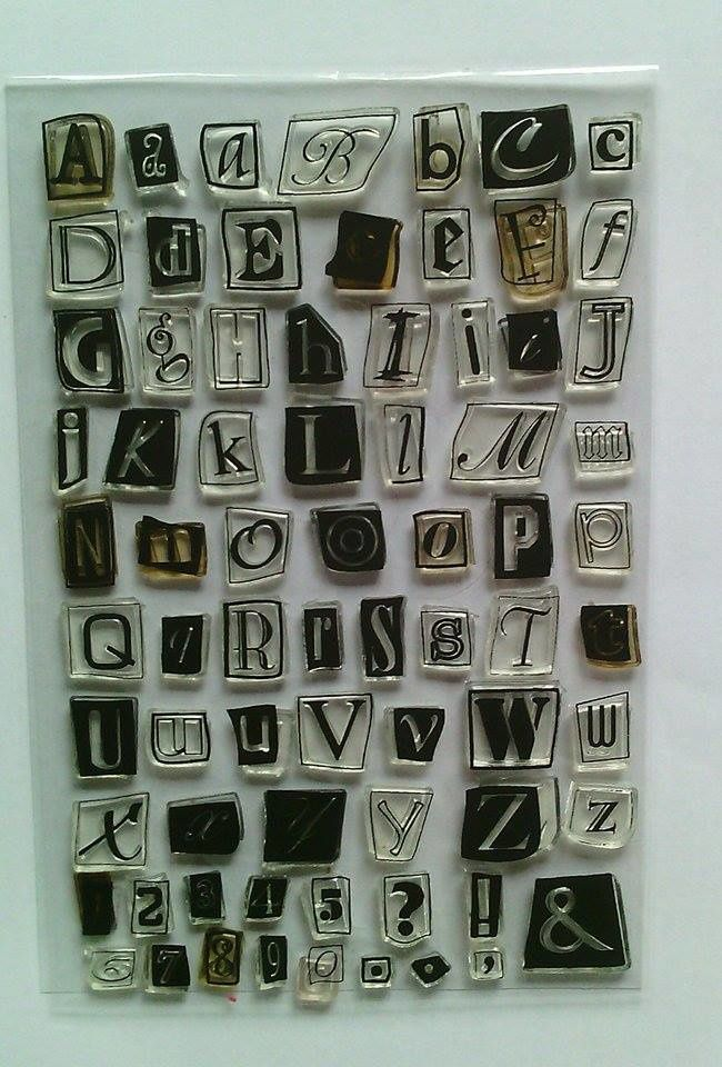 Tampons alphabet, complet, 4 €