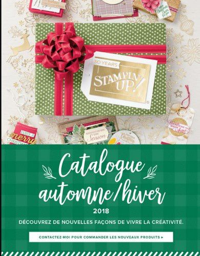 catalogue automne/hiver Stampin'up! 2018