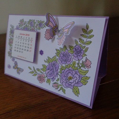 2 calendriers fleuris