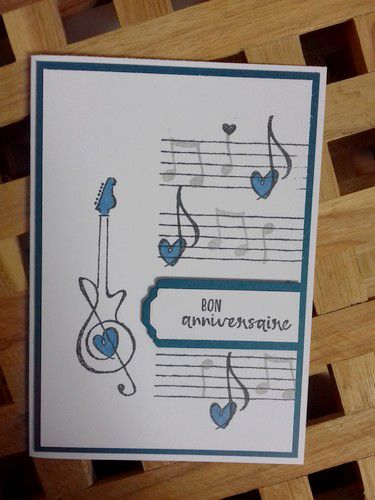 stampin'up! #carteanniversairemusique music from the heart