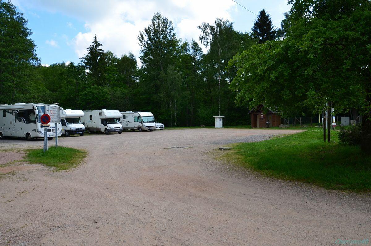 Aire de camping-car du lac des Settons