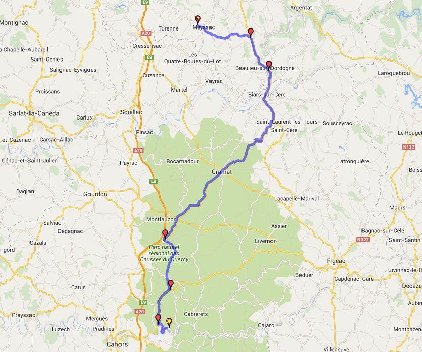 Itinéraire Sain-Géry - Collonges la rouge