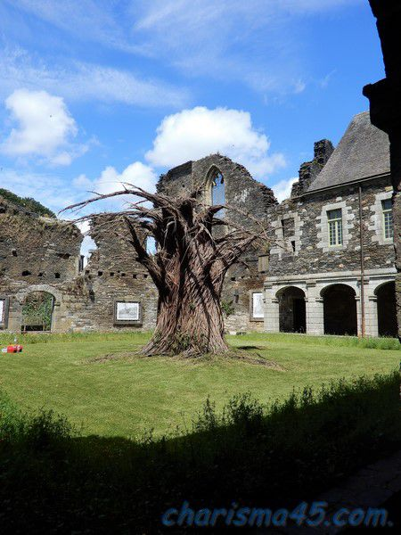 Abbaye de Bon repos, Bretagne en camping-car