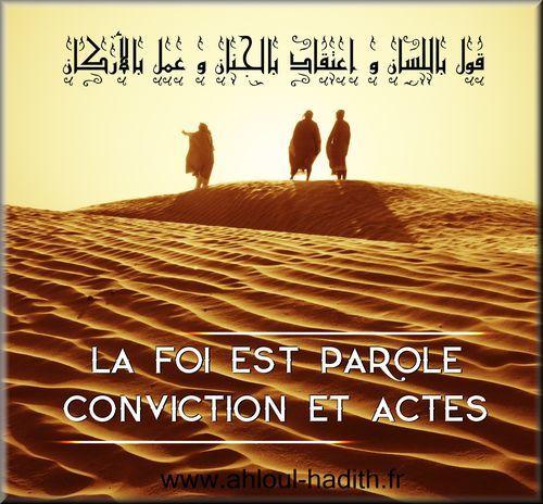 La foi est parole, conviction et actes (prêche du vendredi)