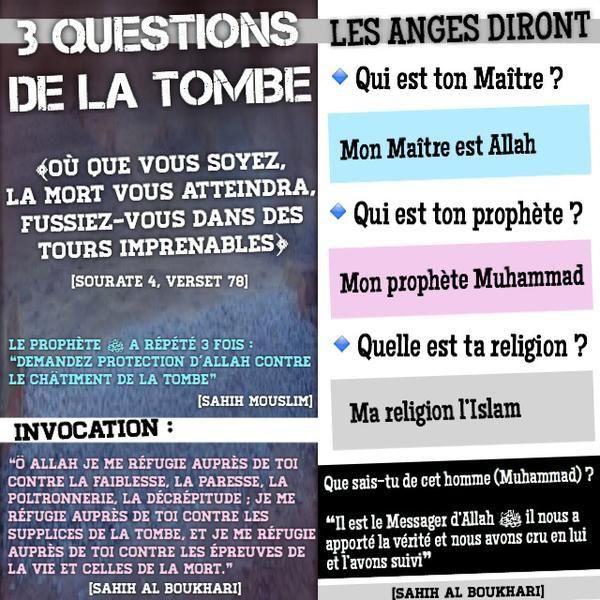 Les 3 questions de la tombe :