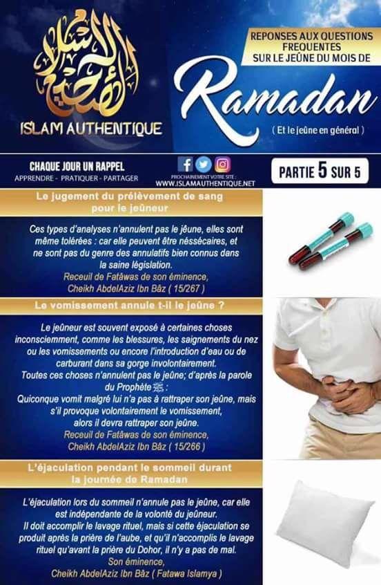 Réponse aux questions frequentes sur le jeunes du mois de ramadan