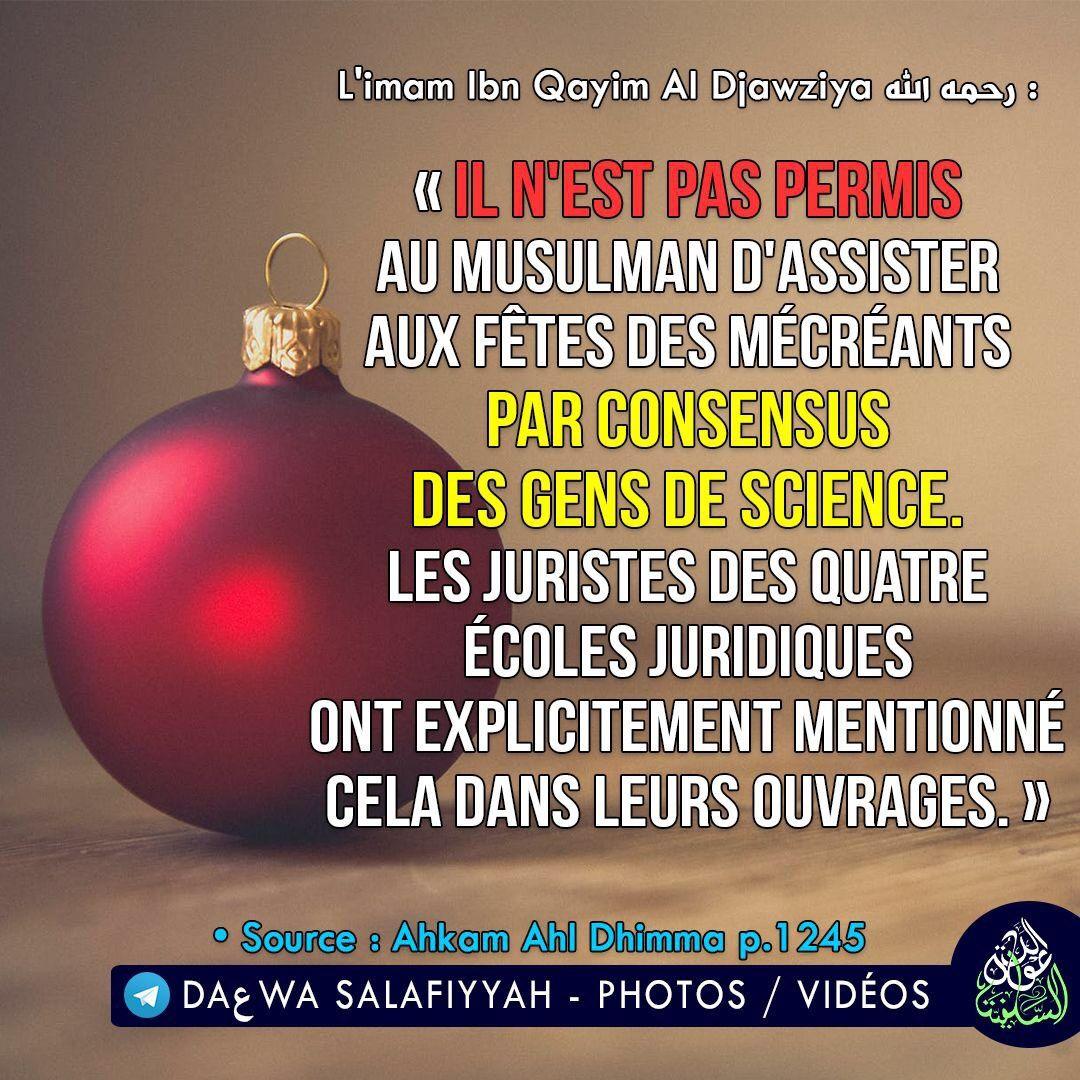 İl n'est pas Permis au Musulman d'assister aux Fêtes des Mécréants
