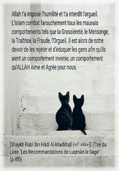 Allah t'a imposé l'humilité et interdit l'orgueil